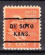 USA Precancel Vorausentwertung Preos Locals Kansas, De Soto 712