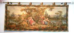 """Painel, Tapisserie Murale """"Gobelins"""". Sur Le Tème Le  R.d.v. Des Amoureux. - Rugs, Carpets & Tapestry"""