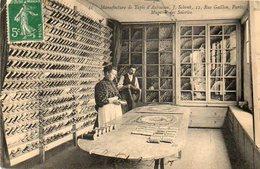 CPA-PARIS (75) -Aspect Du Magasin Des Soieries : Manufacture De Tapis D'Aubusson Schenk , Rue Gaillon En 1908 - Francia