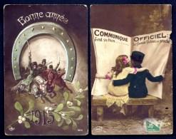2 CPA ANCIENNES- FRANCE- MILITARIA- CHARGE DES COSAQUES RUSSES ET  ANNONCE DE LA VICTOIRE PROCHE--- - Heimat