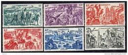 Cameroun P.A. N° 32/ 37 X Tchad Au Rhin La Série Des 6 Valeurs  Trace De Charnière Sinon TB