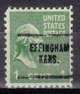 USA Precancel Vorausentwertung Preos Locals Kansas, Effingham 704