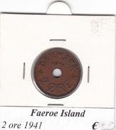 FAEROE ISLAND   2 ORE  1941  COME DA FOTO - Danimarca