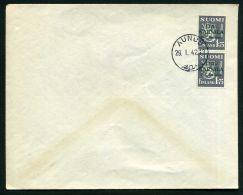 FINLANDE CARELIE : Y&T N° ?  BELLE  OBLITERATION  DE  AUNUS  DU  29 JANVIER  1942 , A  VOIR . - Non Classificati