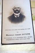 Joseph Ectors 1851 Seny 1922 + Soheit Tinlot - Tinlot