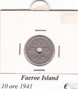 FAEROE ISLAND   10 ORE  1941  COME DA FOTO - Danimarca