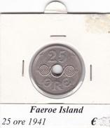 FAEROE ISLAND   25 ORE  1941  COME DA FOTO - Danimarca