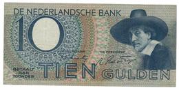 Netherlands 10 Gulden, 1943, VF+.  Free Ship To USA. - 10 Gulden