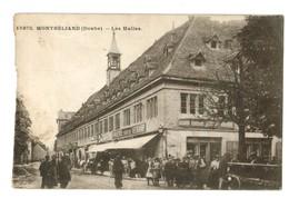15873     Cpa   MONTBELIARD  : Les Halles  ( Coupée à Gauche 2 à 3 Mm )    ACHAT DIRECT !! - Montbéliard