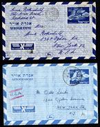 A4656) Israel 2 Unterschiedliche Aerogramme Gebraucht 1953 - Israel