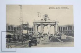 Old Postcard Belgium - La Foire Commerciale - Commercial Fair - L'Arcade Et Les Halls Du Cinquantenaire - Animated - Bélgica