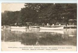 15875    Cpa   VICHY  : Les Bords De L'Allier , Canotage Vichyssois , Cremerie , Restaurant , .. Maison Auguste  , 1929 - Vichy
