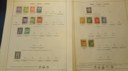F0009 LOT FEUILLES TIMBRES ANCIENS ESPAGNE-TURQUIE A TRIER BELLE COTE DÉPART 10€ - Sammlungen (im Alben)