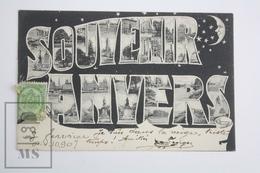 Old Postcard Belgium - Souvenir Anvers - Posted 1907 - Mechelen