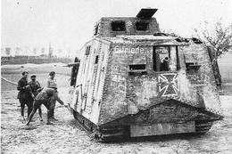 Militaria WW1 - Char A7 Wagen Allemand Capturé Par Les Français - 1914-18