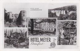 BEAUFORT - GRAND DUCHÉ DE LUXEMBOURG - CPSM  MULTIVUES DE 1952 - BEL AFFRANCHISSEMENT POSTAL. - Postcards