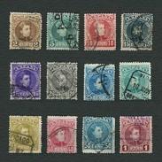 SPAGNA 1901 - Alfonso XIII - 12 Valori - Yt:ES 212-23 - 1889-1931 Regno: Alfonso XIII