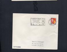 """Flamme - 84 Carpentras      """" CARPENTRAS  JARDIN DU COMTAT  VILLE D'ART LE MONT VENTOUX"""" - Postmark Collection (Covers)"""