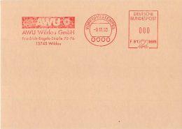 EMA ALLEMAGNE VORFUHRSTEMPEL SPECIMEN -  AWU Wildau GmbH - WILDAU 1993 - Marcophilie - EMA (Empreintes Machines)