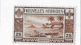 Nouvelles-Hébrides N°104** - Légende Française