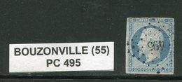 FRANCE- Y&T N°14A- PC 495 (BOUZONVILLE 55) - Marcophilie (Timbres Détachés)