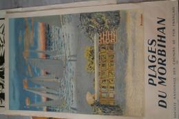 56- AFFICHE SNCF - CHEMINS DE FER- PLAGES DU MORBIHAN - ILLUSTRATEUR BRIANCHON -1950  RARE - Posters