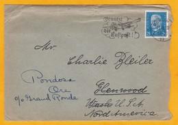 1931 - Lettre Avec Corresp. De Berlin Vers Glenwood, Puis Pondore, USA - Flamme Propagande Courrier Par Avion - Germany