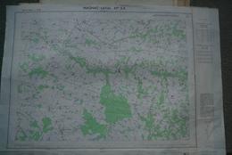 87 - MAGNAC LAVAL- PLAN TOPOGRAPHIQUE 1959 - RANCON-SAINT JUNIEN LES COMBES-BLANZAC-BALLEDENT-VILLEFAVARD- RARE - Mapas Topográficas