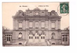 92 Sceaux Hotel De Ville Cpa Cachet Sceaux 1912 - Sceaux