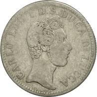 États Italiens, LUCCA, 2 Lire, 1837, TB, Argent, KM:41 - Regional Coins