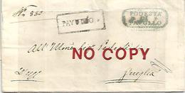 Pavullo, Dittatura Farini Province Modenesi, 8.7.1859, Annullo Zocca In Cartella Azzurra Al Retro, Su Piego Per Guiglia. - Modène