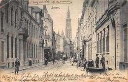 Antwerpen Anvers     La Cathédrale  De Kathedraal   Vue De La Longue Rue Neuve Nieuwe Langestraat         X 1256 - Antwerpen