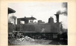CHEMINS DE FER DE SEINE ET MARNE- Jouy Le Chatel,Machine 3708 (photo Format 11x8cm Collée Sur Un Support Format CPA) - Trains