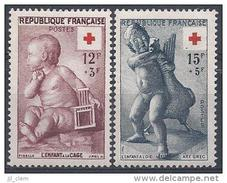 France N°1048-1049 * *Neuf  Sans Charniere - France