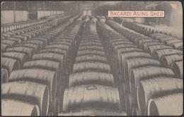 POS-422 CUBA POSTCARD. CIRCA 1930. ALMACEN RON BACARDI AGING SHED. - Cuba