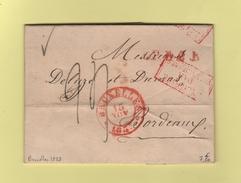 Bruxelles - Belgique Par Valenciennes - 1833 - 1830-1849 (Belgique Indépendante)