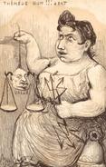 Cpa Politique Satirique Caricature AFFAIRE HUMBERT Thérèse Hum Bert ORENS Balance Tete Valles Diable N°203 - Sátiras