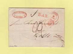 Anvers - 25 Avril 1845 - Courrier De Antwerpen - 1830-1849 (Belgique Indépendante)