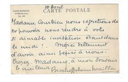 AUTOGRAPHE Marie-Laure De Noailles ( Bischoffsheim ) 1902-1970 Sur Cp Hyères Saint-Bernard ( Villa Noailles ) - Autographes