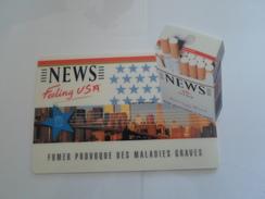 TAPIS SOURIS   PUB TABAC    NEWS  FELING  USA   ****    RARE  A   SAISIR     ****** - Objets Publicitaires