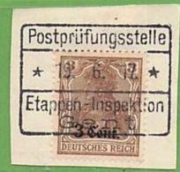 MiNr.11 Auf Briefstück  Deutschland Deutsche Besetzg,1.WK Belgien - Occupazione 1914 – 18