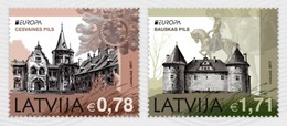"""LETONIA/ LATVIA / LETTLAND -EUROPA-CEPT 2017.-TEMA:""""CASTILLOS -CASTLES -SCHLÖSSER"""".-  SERIE DE 2 V. - 2017"""