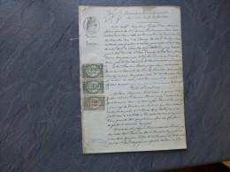 17 LOULAY Bernay, Breuilles 1875, Procès Giraudeau PERRIER, Sévices Conjugaux, RARE, Timbres Fiscaux ; Ref 770 VP29 - Historical Documents