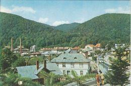 CPA AZUGA- MOUNTAIN RESORT, PARTIAL PANORAMA, BUSS, CAR - Romania
