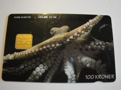 1 Chip Phonecard From Denmark - Octopus