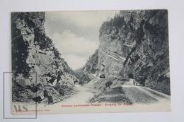 Old Postcard Switzerland - Davoser - Landwasser - Strasse - Ausgang Der Zügen - Old Carriage - GR Grisons