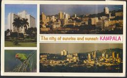 °°° GF184 - UGANDA - KAMPALA - THE CITY OF SUNRISE AND SUNSET - 1998 With Stamps °°° - Uganda