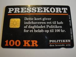 1 Chip Phonecard From Denmark - Pressekort