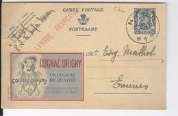 CPAS Belgique Cognac Origny, Censure Guerre 1944 Namur - Publicité