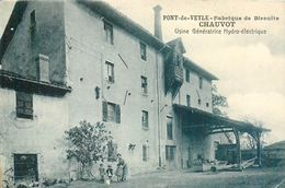 PONT-DE-VEYLE - Lot 2 Cpa Fabrique Biscuits CHAUVOT Usine Génératrice Hydro-électrique + Intérieur - AIN - France